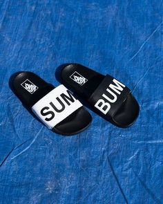 """It's always summer somewhere."" The Vans x SUMMER BUMMER Womens Slide-On Sandals."