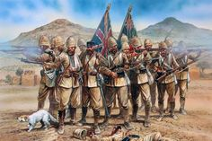 British; Maiwand 1879, the box art work for the forthcoming Perry 28mm multipose plastic figures.