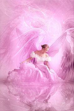 ~ Pink! She loved angels and she loved pink...this would have delighted her and I would have gotten a huge grin. Miss you, my mother! ♡xox♡ 15th September 2015 ~