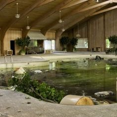 Mike Tyson's abandoned house - indoor pool