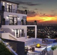 amazing los angeles hollywood hills mansion with infinity edge pool and city views possibly on. Black Bedroom Furniture Sets. Home Design Ideas