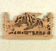 moose scroll saw ornaments   Moose Ridge Project Pattern