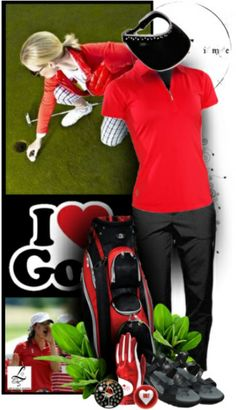 What can you say about this fierce, brave golf look? Only at lorisgolfshoppe.polyvore.com! #golf #polyvore #ootd #lorisgolfshoppe