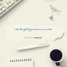 Voici un mot d'amour Blush http://bit.ly/1sfo8wi #BLUSHNOTES