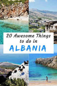 Travel inspiration for Albania. Twenty awesome things you should do in this amazing underrated country. 20 great ideas for planning your trip to Albania. #albania #travelinspiration