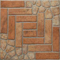 Piso piedra indie tierra 45x45 casa interiores pisos decoraci n hogar revestimiento ba o - Revestimiento para bano ...