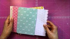 Mini álbum de sobres con cubierta de cartón (II): Interior