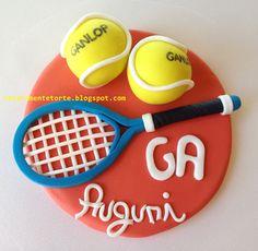 CHIARAmente...Torte!: Tennis Cake Topper! Racchetta e...palline!