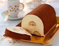 Recette Bûche de Tiramisu glacé : http://www.ilgustoitaliano.fr/recette/buche-de-tiramisu-glace