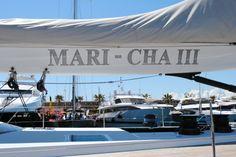 SY. Mari Cha III and a bunch of motor yachts at AYS