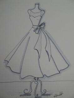 x Custom Wedding Dress Illustration croquis Dress Design Drawing, Dress Design Sketches, Fashion Design Sketchbook, Fashion Design Drawings, Sketch Design, Fashion Sketches, Dress Drawing Easy, Art Sketchbook, Dress Designs