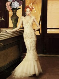 #Vintage Inspired YolanCris #wedding #dress.