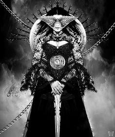 "whitesoulblackheart: "" Lady Thanatos by Raúl García For my lioness Amelia … ♕ zemunin ♕ (Please leave credit … ƸӜƷ) """