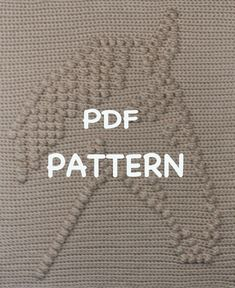 Note: Pattern is worked from top to bottom.    ********This is a listing for a PDF Pattern only - it is not the finished product******    This is