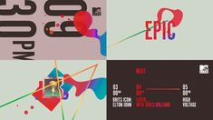 Design and conception (pitch style frames) for the MTV Live channel rebrand. Commissioned by Digital Kitchen, LA.