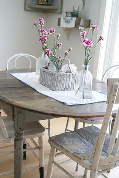 R u s Ꮏ i c . I n s p i r e d ~ table, basket, flowers