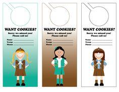 door hangers to Push cookies!