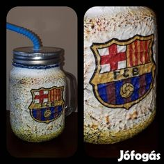 Kínál Egyedi kézműves füles bögre és szívószálas pohár 2 in 1. Fc Barcelona: Egyedi kézműves füles bögre és szívószálas pohár 2 in 1. Ajándék Fc Bar...