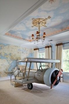 Every boy's dream room! #planebed #dreamroom