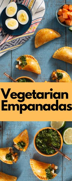 Perfect for a snack or a Cinco de Mayo meal, these delicious empanadas are served with parsley and coriander chimichurri sauce. Vegan Vegetarian, Vegetarian Recipes, Cooking Recipes, Healthy Recipes, Empanadas Vegetarian, Veggie Dishes, Veggie Recipes, Mexican Food Recipes, Tostadas