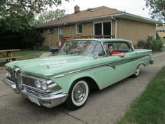 Vintage Cars 1959 Edsel Ranger Four Door Hardtop. Edsel Ford, Car Ford, Ford Motor Company, Vintage Cars, Antique Cars, Vintage Auto, Cool Old Cars, Ford Classic Cars, Old Fords