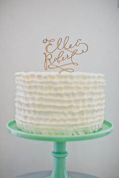 The wedding world is changing for the better! One of the best changes is that weddings have the freedom to be individual and fun! You are able to personalize everything and anything including your wedding cake. From the cake stand to the topper and ...
