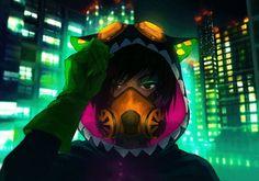 Jen (Fisheye Placebo) By Wenqing Yan Anime Guys, Manga Anime, Anime Art, Anime Style, Fisheye Placebo, Yuumei Art, Chibi, Online Comics, Cyberpunk Character