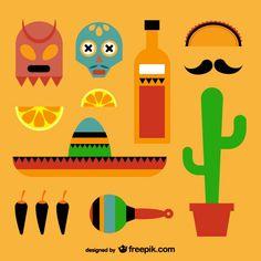 Vector Mexicanos Free Mexican and vintage elements vectors