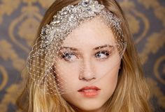 Vintage Jeweled Cage Veil - Wedding Hair Inspiration for Brides Who Hate Veils - Photos