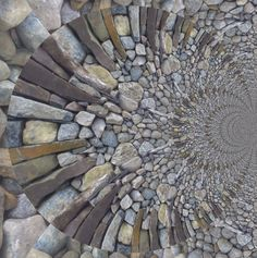 Beautiful pebble and stone mosaic