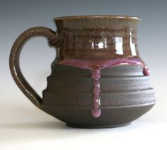 #ceramics #mug >>> how I live drippy glaze!