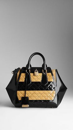 Medium Quilt Detail Leather Tote Bag. Burberry handbags, find them on eBay, brought together for you in one convenient site! Time and money savings! www.womensdesignerhandbag.com