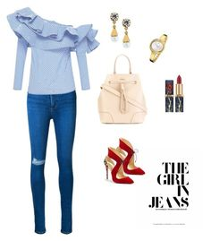 The girl in jeans by renistyle on Polyvore featuring polyvore, fashion, style, Johanna Ortiz, Nobody Denim, Christian Louboutin, Furla, Lulu Frost, Calvin Klein and clothing