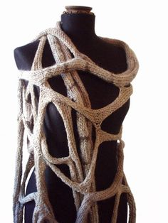 A cobweb scarf is also a good idea  oversized knit cobweb