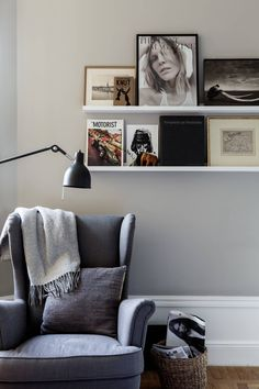 Reading nook with Ikea 'Strandmon' armchair