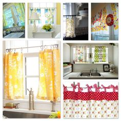 Inspiration: Kitchen Curtains to Sew — A Sewing Journal - someday I'll have a house and a reason to sew curtains.