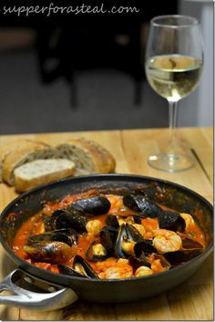 Portuguese Mussels and Shrimp in Chorizo Sauce | Happy Birthday #SundaySupper