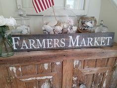 Rustic Farmers Market Sign. Farmhouse style decor, rustic home decor, farmhouse…