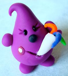 Birthday PARTY PARKER©   Polymer Clay Character  by KatersAcres®