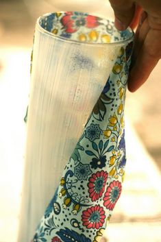 Cover a vase with fabric