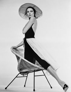 Grace Kelly in a fabulous Edith Head-designed beach outfit in To Catch a Thief