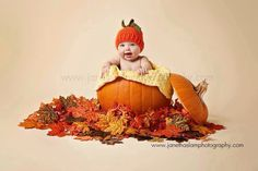 3-6mth Crochet Pumpkin Hat fall photo prop baby pumpkin fall harvest de…