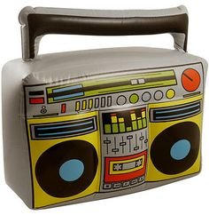 Inflatable boom box #musical 80s #fancy #dress,  View more on the LINK: http://www.zeppy.io/product/gb/2/151466711228/