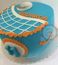 BOLO VOLLEYBALL - TORTA VOLLEYBALL - VOLLEYBALL CAKE