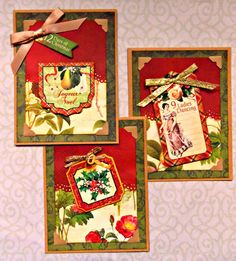 Her Peaceful Garden: More No-Stamping Half 'n' Half Christmas Cards