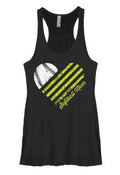 SOFTBALL HEART Flowy Tank [Runs Small] Softball Crafts, Softball Shirts, Girls Softball, Softball Players, Baseball Mom, Mom Shirts, Baseball Stuff, Softball Cheers, Softball Pictures