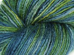 Bamboo 100% organic Blue Green, auf dem Wasser treiben Blätter - Woolpack
