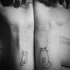 Cat tattoo. I want the Fluffy one.