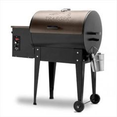 Traeger Junior Elite 20 Wood Pellet Grill and Smoker in - The Home Depot Small Grill, Wood Pellet Grills, Wood Pellets, Built In Grill, Outdoor Food, Wood Fired Pizza, Cooking On The Grill, Outdoor Kitchen Design, Barbecue Grill