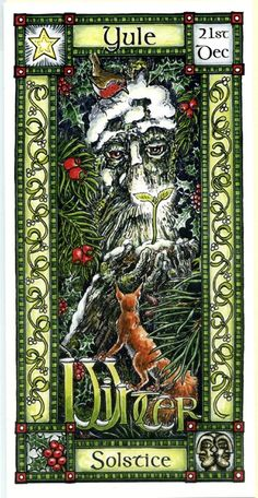 The Goddess and the Green Man | Yule Winter Solstice | Yule  I'd like to have a cross stitch pattern of this
